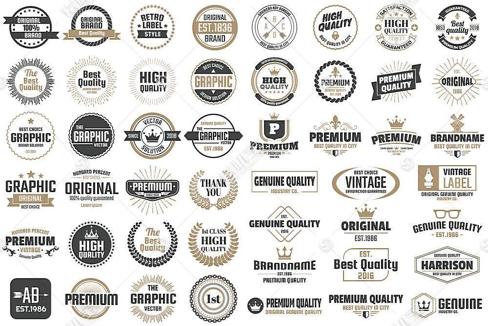 多款英文标签形象创意LOGO设计