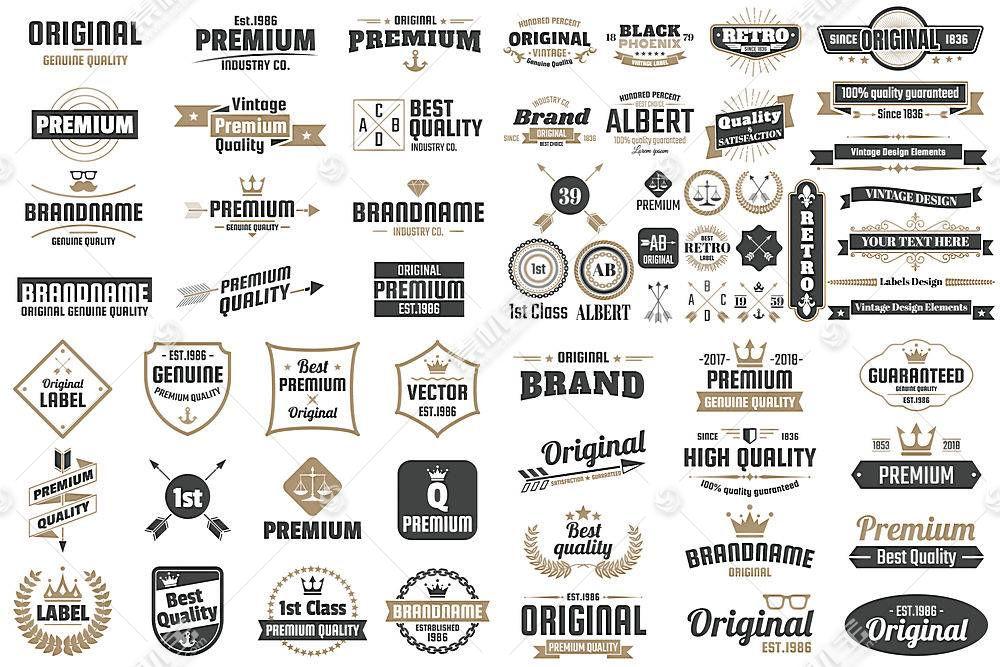 多款英文商务标签形象创意LOGO设计