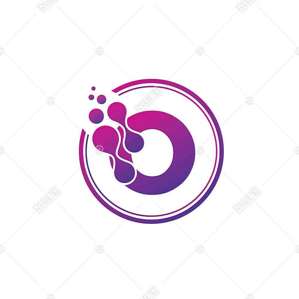 紫色融合字母形象创意LOGO设计
