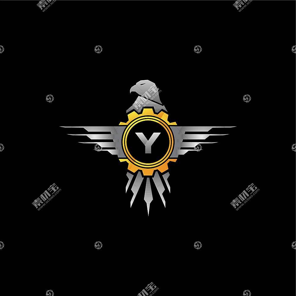 个性钢质鸟形字母形象创意LOGO设计