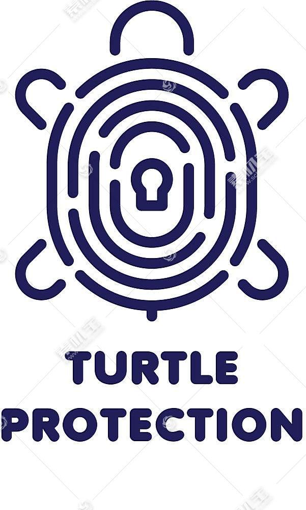 抽象乌龟形象创意LOGO设计
