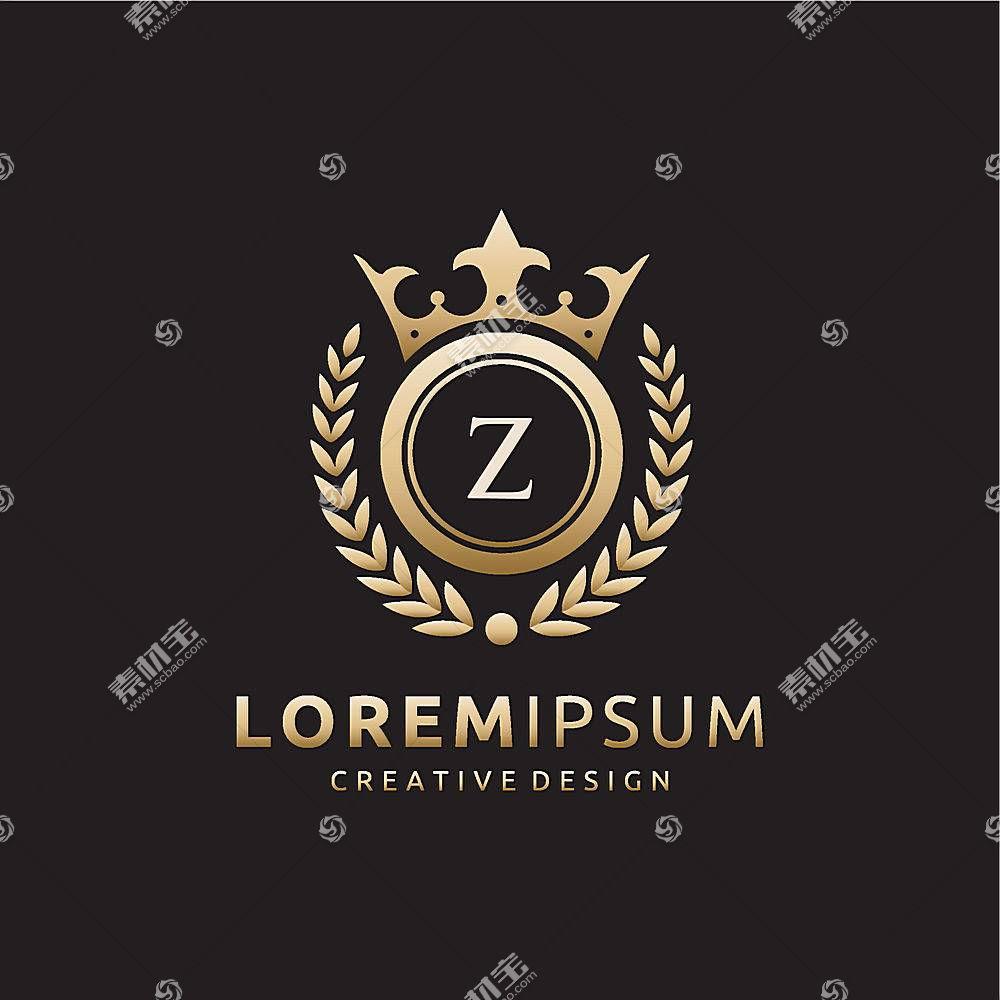 皇冠麦穗字母形象创意LOGO设计