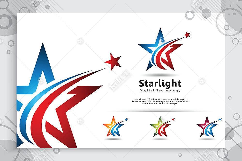 星星形象创意LOGO设计