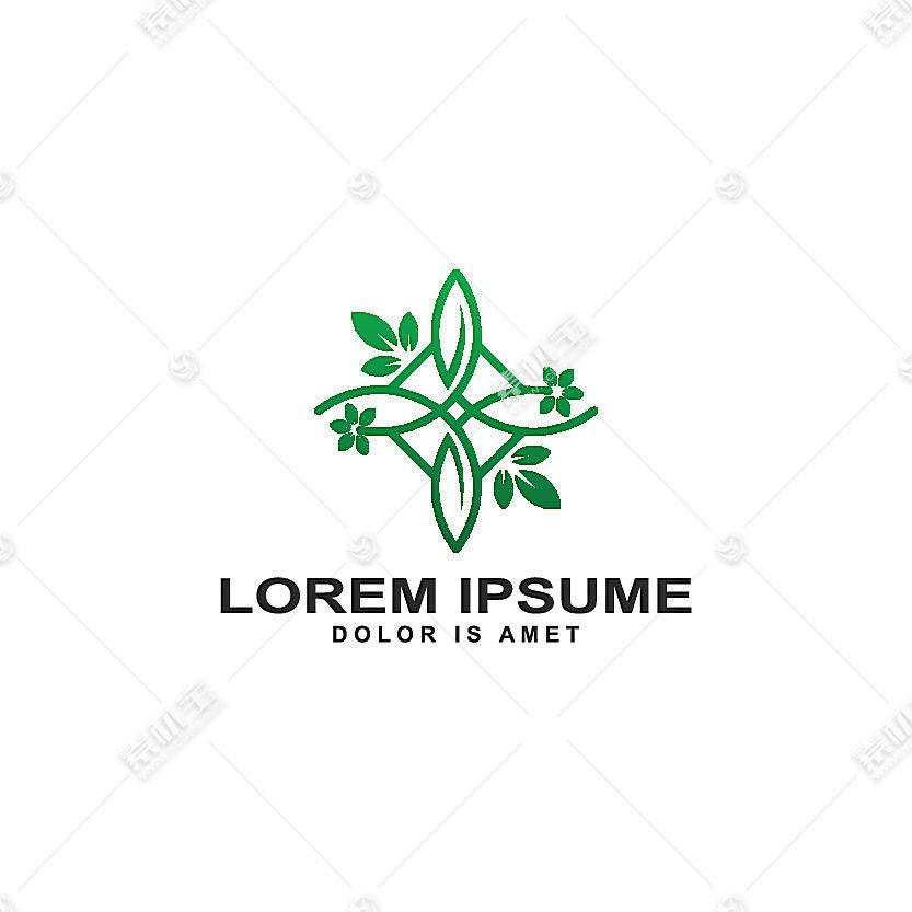 绿色植物形象创意LOGO设计