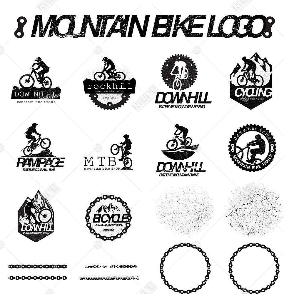 自行车野外形象创意LOGO设计
