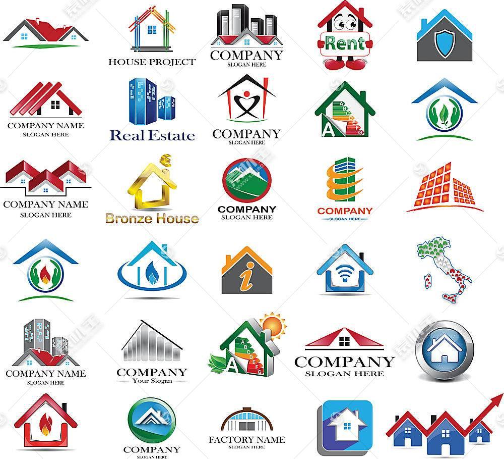 多款房子形象创意LOGO设计