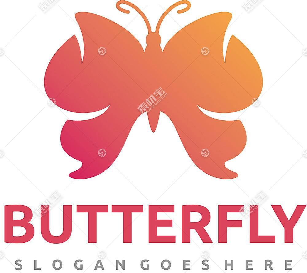 渐变蝴蝶形象创意LOGO设计