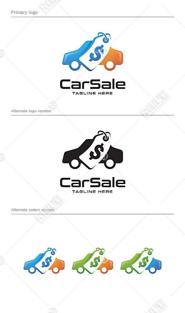 买车标签形象创意LOGO设计