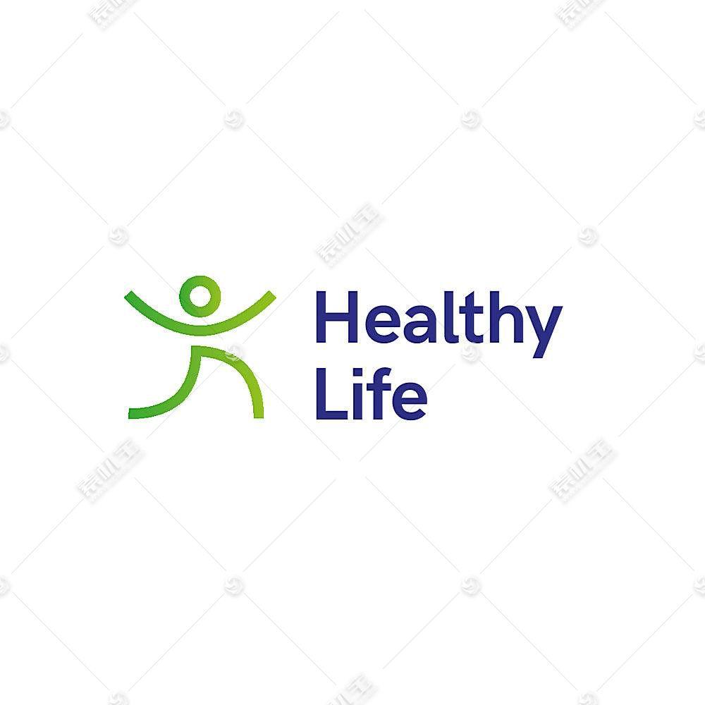 健康生活形象创意LOGO设计