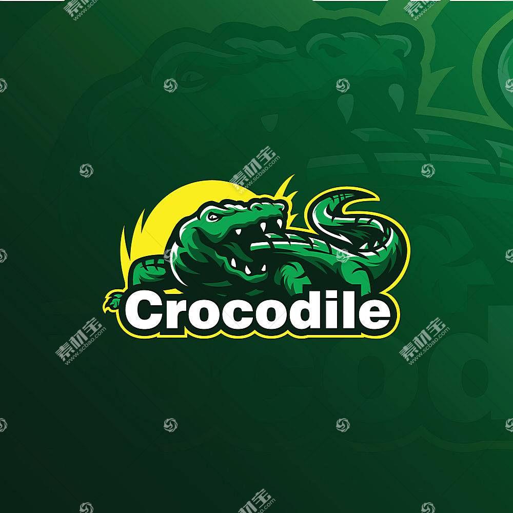 鳄鱼形象创意LOGO设计