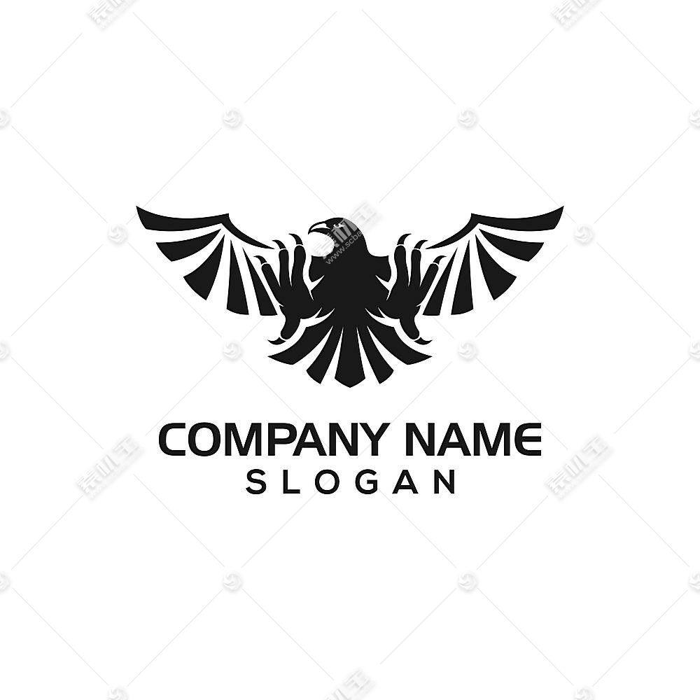 雄鹰形象创意LOGO设计
