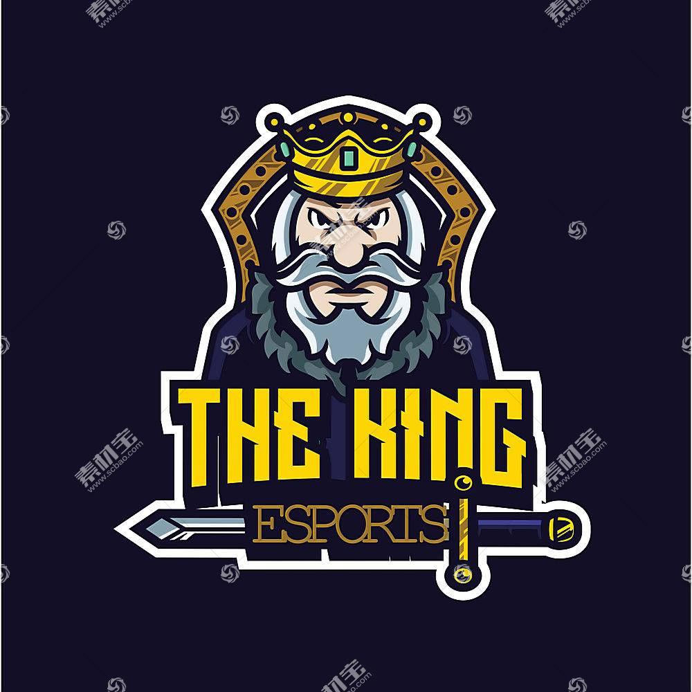 卡通国王形象创意LOGO设计