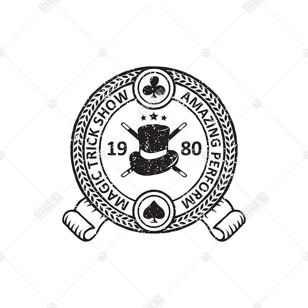 欧式复古创意徽章图标LOGO设计