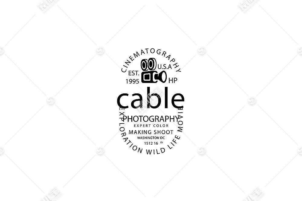 放映机标签形象创意LOGO设计