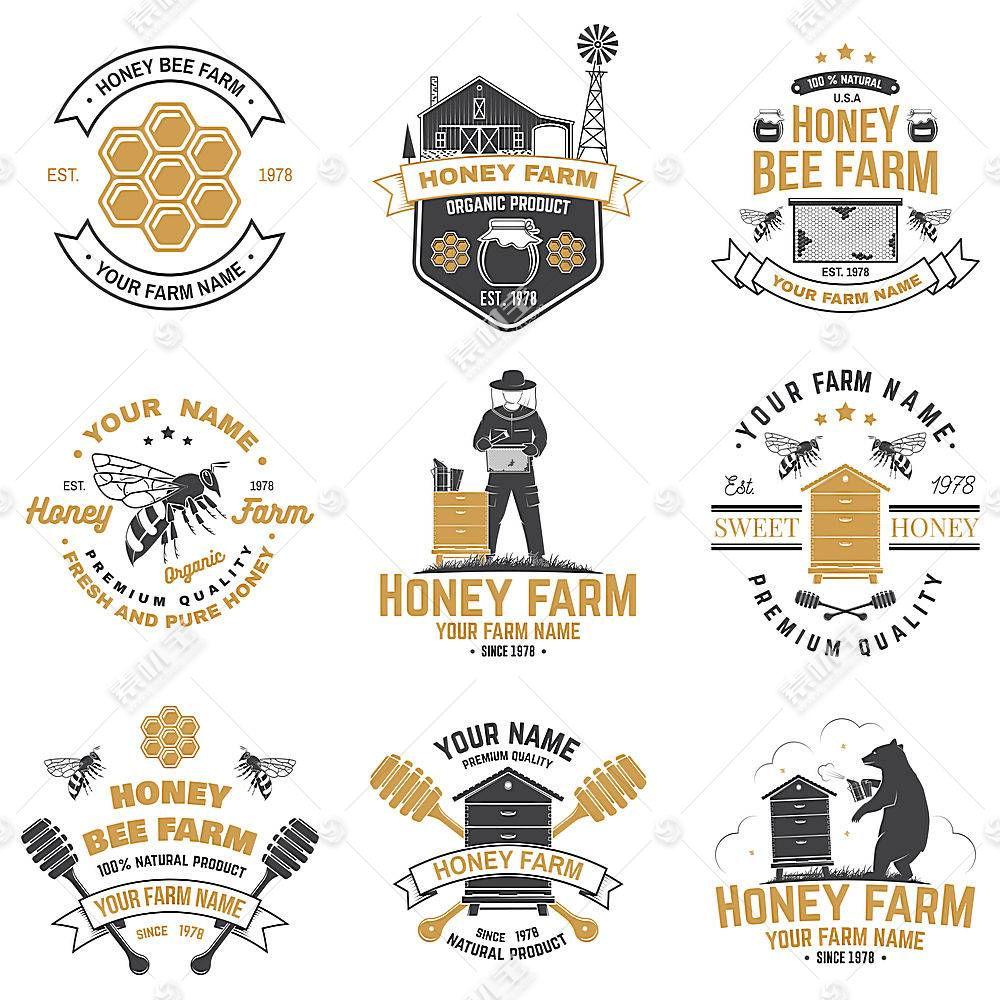 蜂蜜农场形象创意LOGO设计