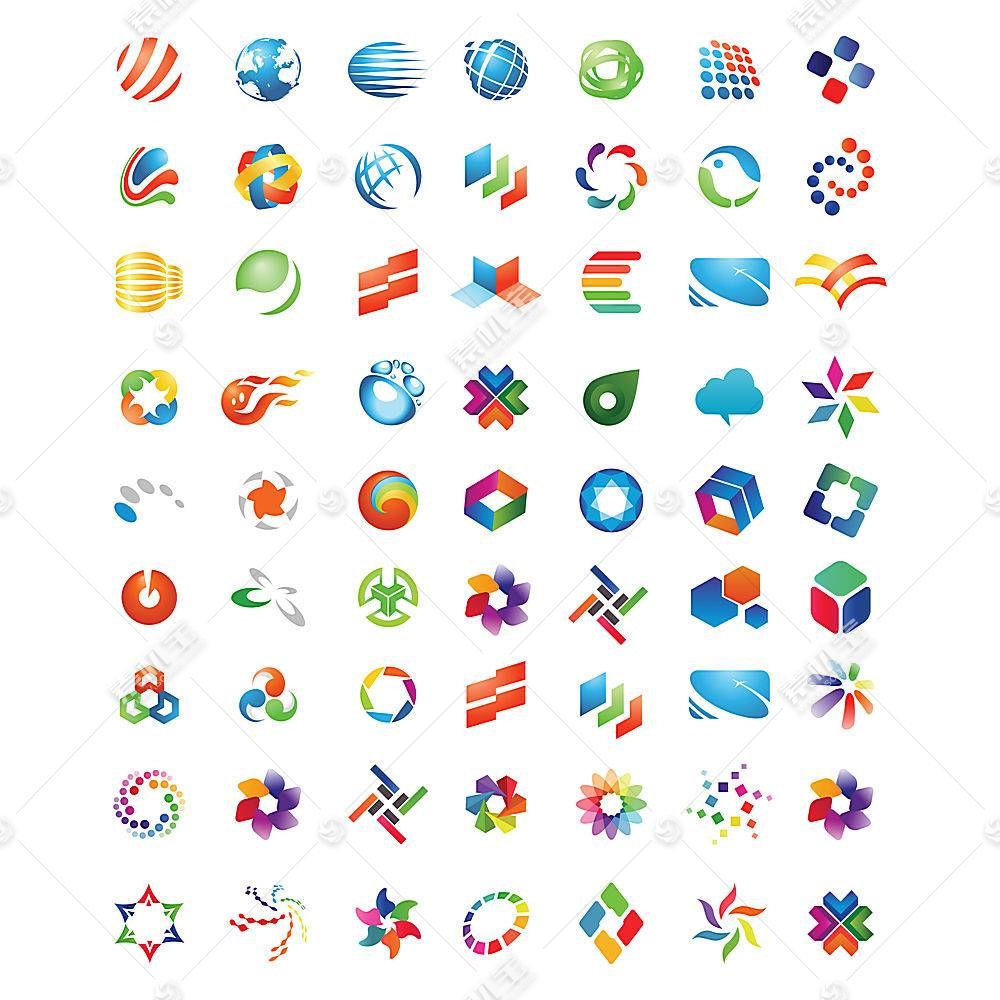 多款炫彩图标形象创意LOGO设计
