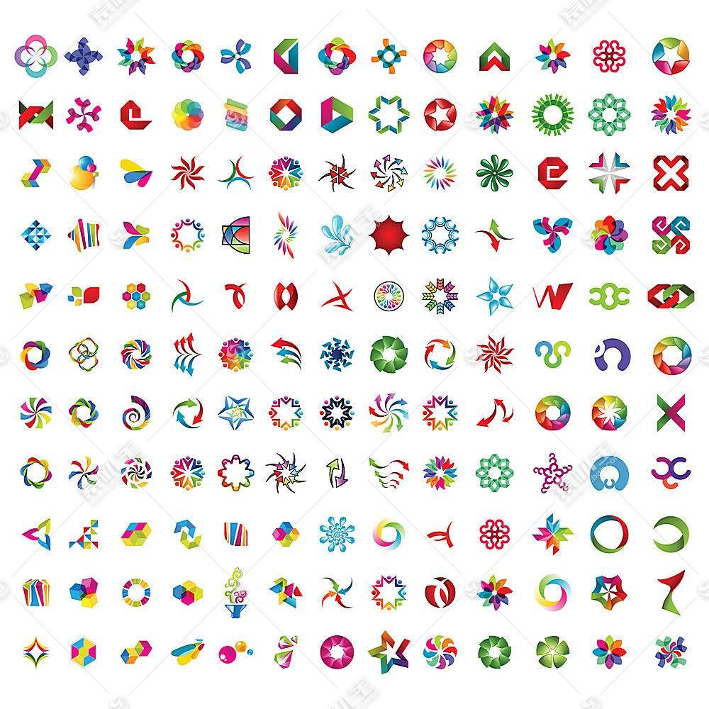 多款渐变图形形象创意LOGO设计