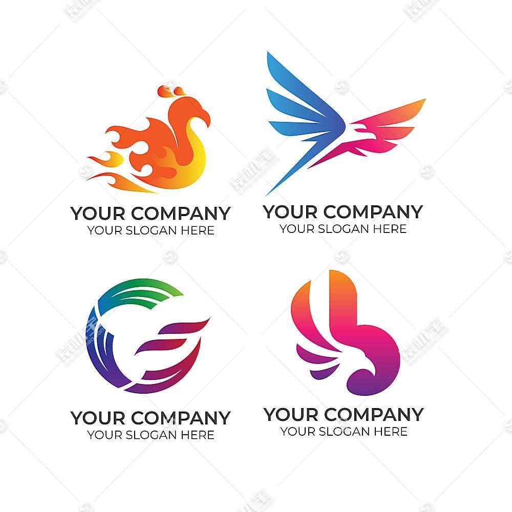 鸟元素形象创意LOGO设计