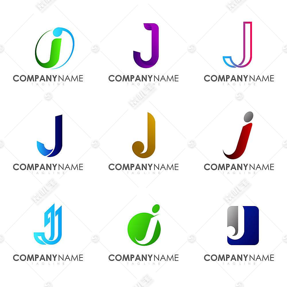 多款字母图形形象创意LOGO设计