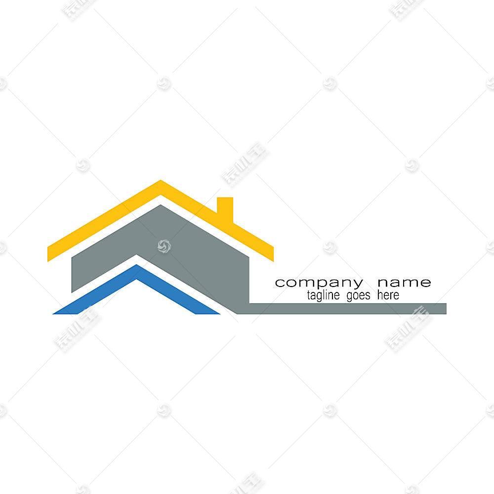 房子建筑类形象创意LOGO设计