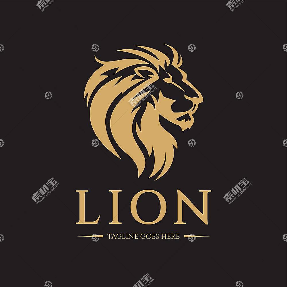 狮子头像形象创意LOGO设计