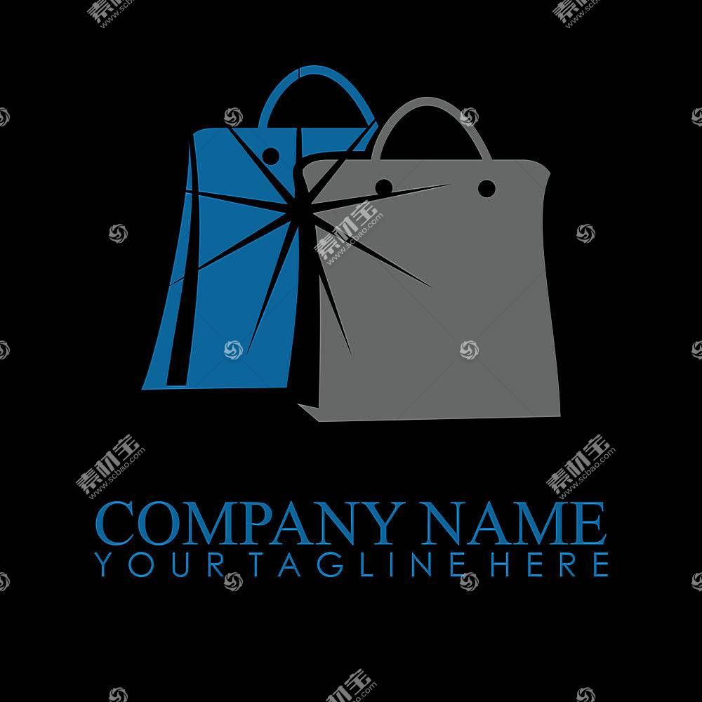 购物袋形象创意LOGO设计