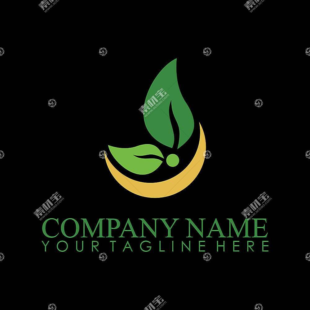 绿叶环保概念形象创意LOGO设计