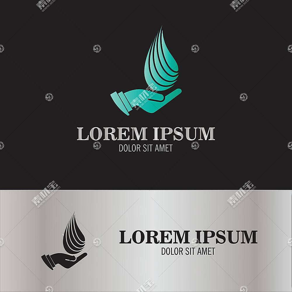 水元素形象创意LOGO设计
