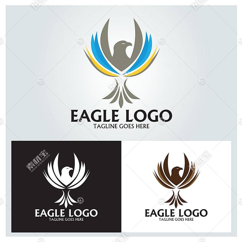 鸟类展翅形象创意LOGO设计