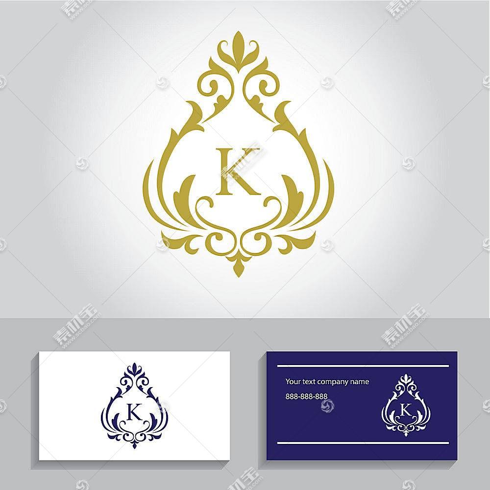 欧式花纹字母形象创意LOGO设计