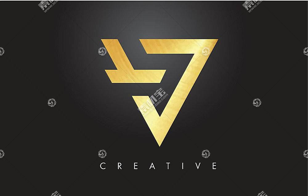 金色个性图形形象创意LOGO设计