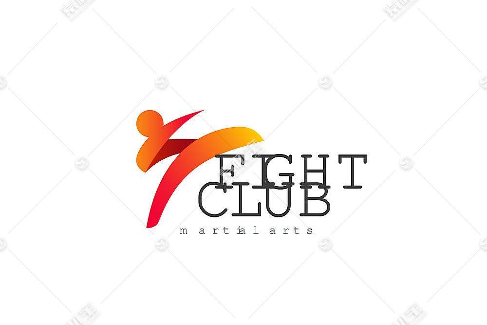 战斗俱乐部形象创意LOGO设计