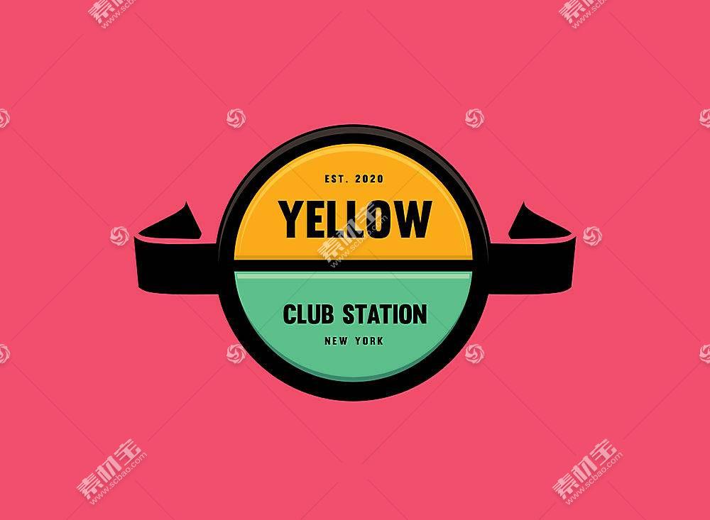 色彩丰富的平面徽章LOGO设计