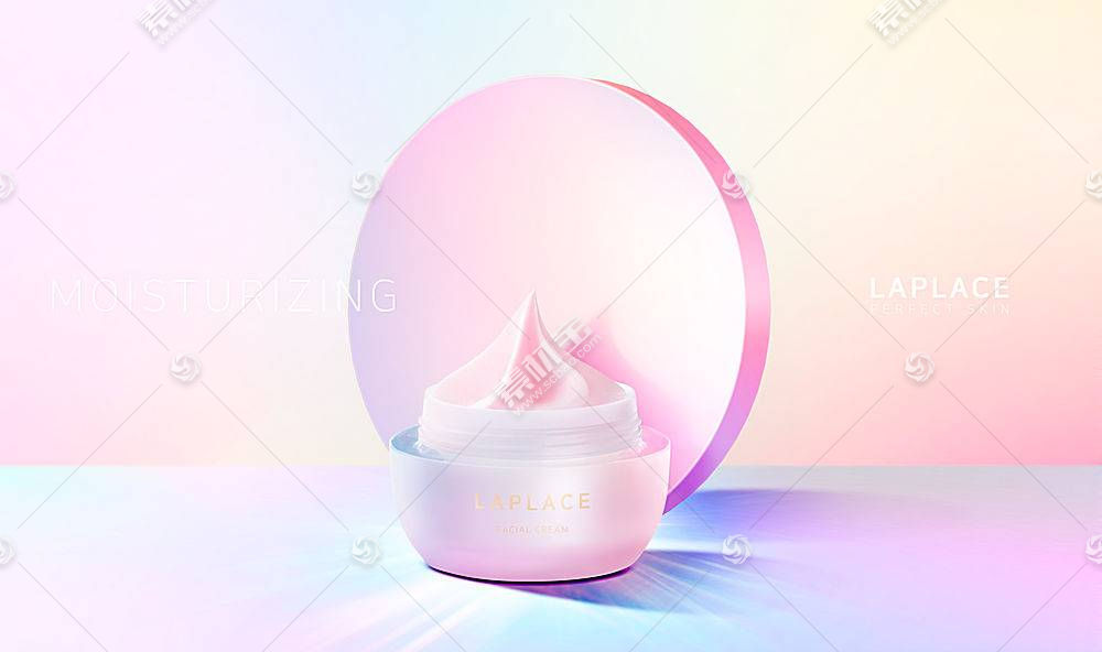 韩国炫彩美妆用品主图海报设计通用模板图片