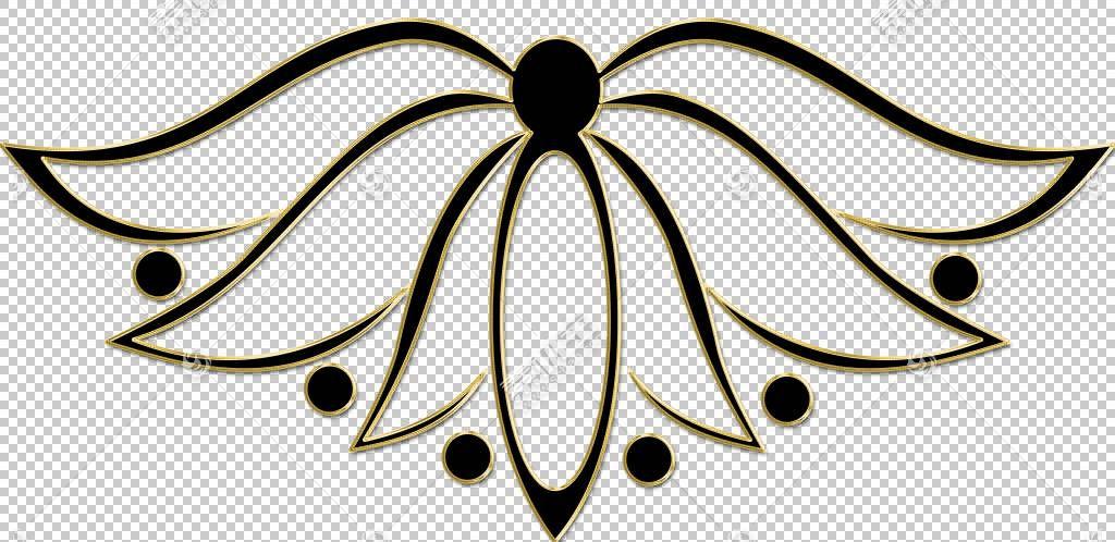 比萨装饰花,金花png剪贴画对称性,卡通,花卉,图片框架,艺术品,披