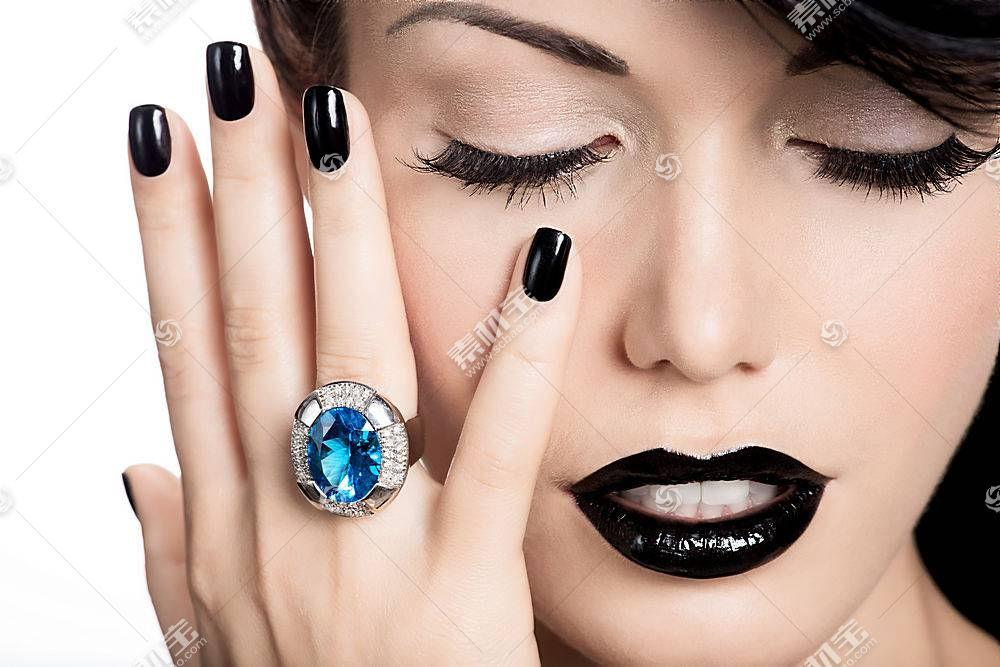 女人,脸,妇女,女孩,口红,情绪,珠宝,壁纸,