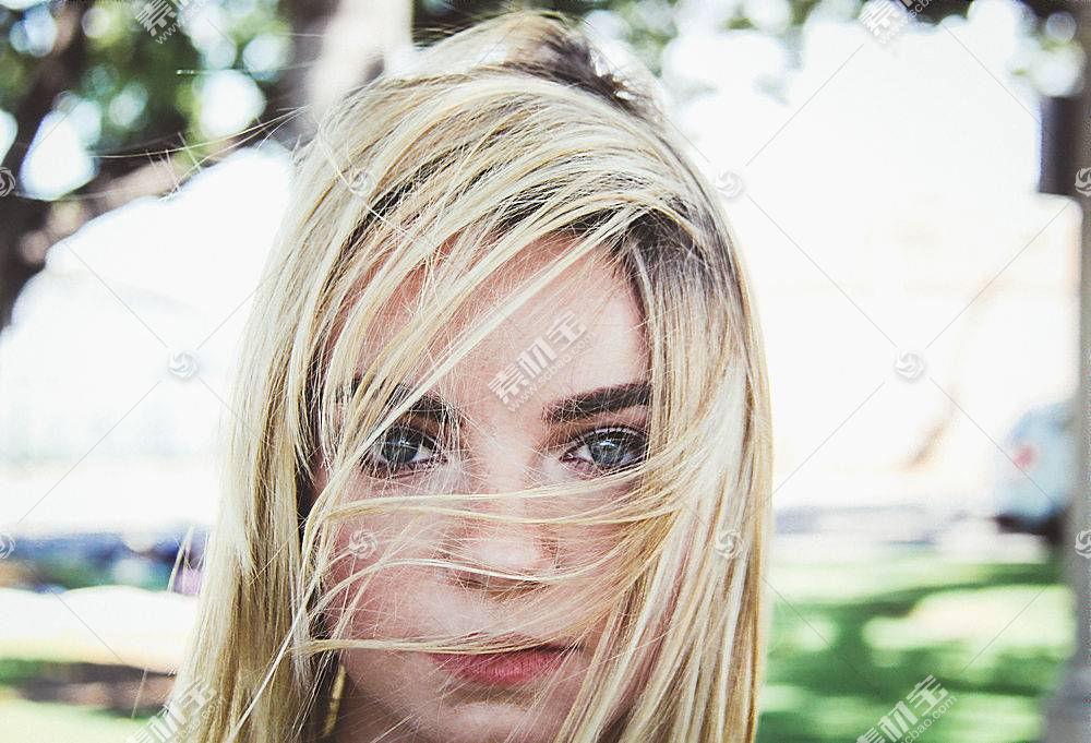 女人,脸,妇女,模特,女孩,白皙的,蓝色,眼睛,深度,关于,领域,壁纸,