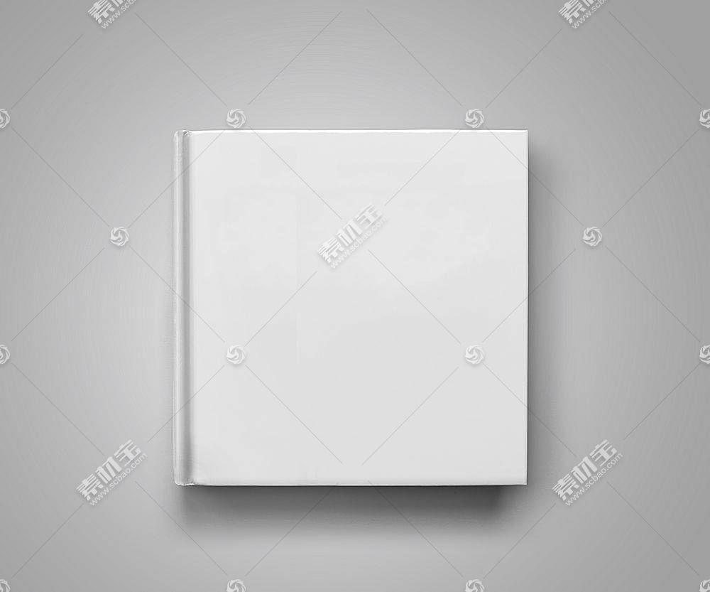 纯白的笔记本画册LOGO展示样机