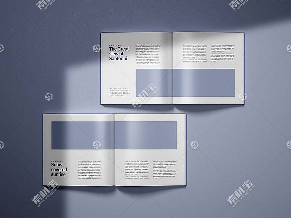 商务企业公司画册简介项目介绍通用样机设计