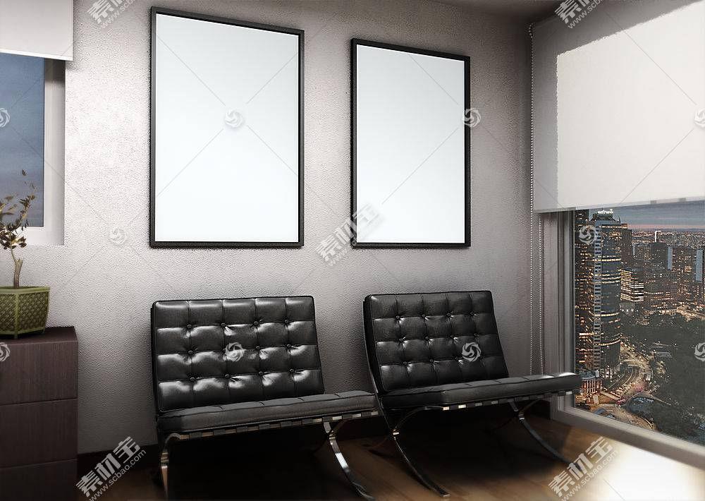 室内挂画装饰画样机展示