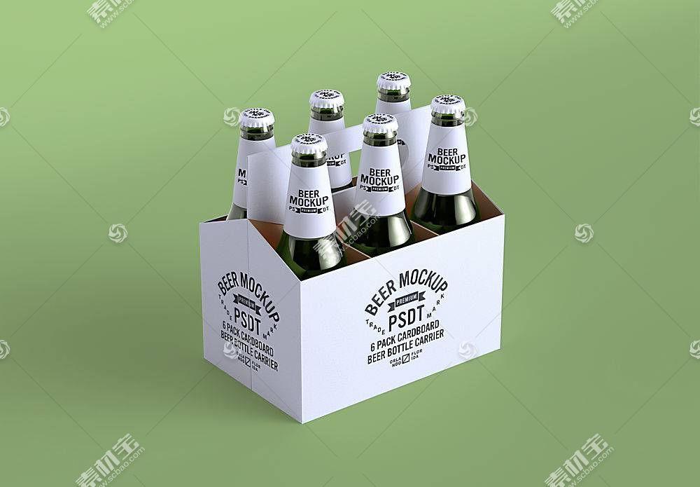 一箱啤酒包装LOGO展示样机