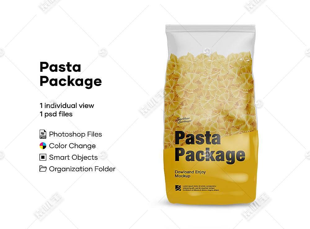 透明食物包装袋外观LOGO展示样机