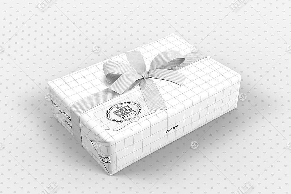 白色时尚简洁礼物盒子LOGO展示样机