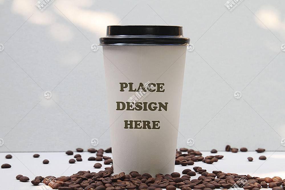 纸质一次性咖啡杯包装LOGO展示样机