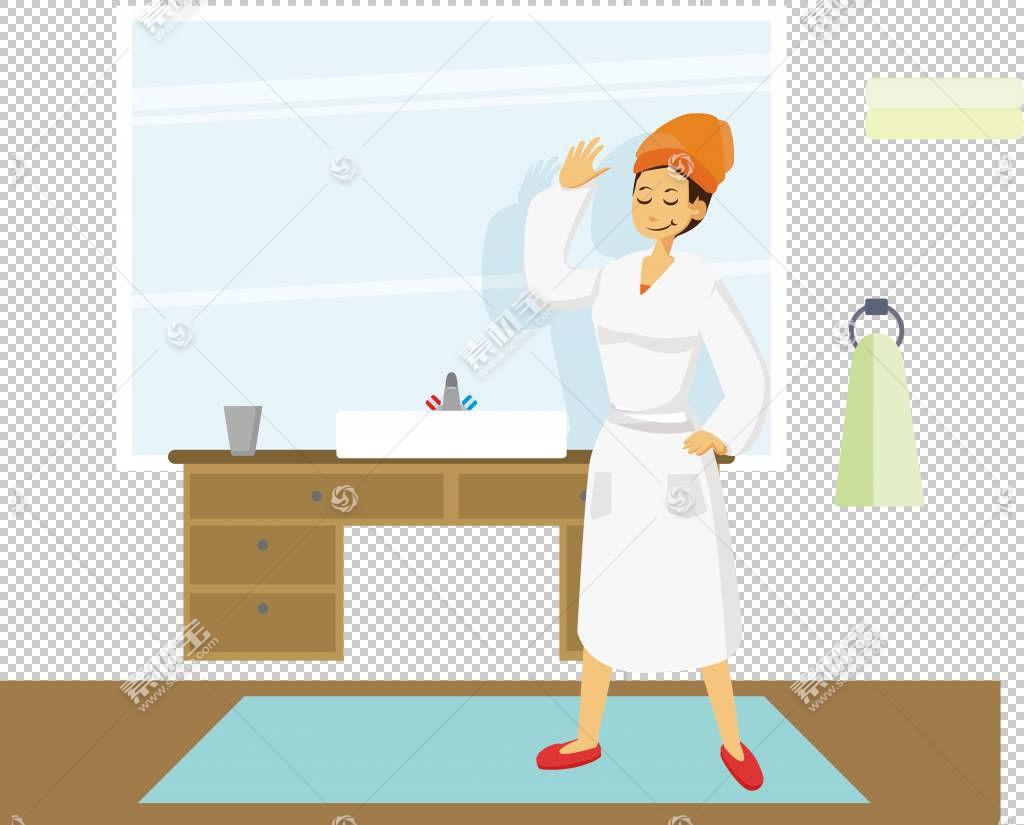 女卡通,家具,线路,专业,烹饪,手指,作业,关节,手,职业,站立,绘图,