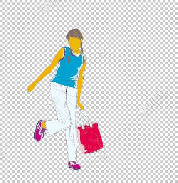 女卡通,鞋,服装,线路,关节,黄色,材质,站立,动画,卡通,剪影,女人,
