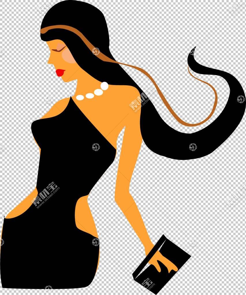 女发,线路,鞋,剪影,头发,绘图,计算机图形学,长发,女人,