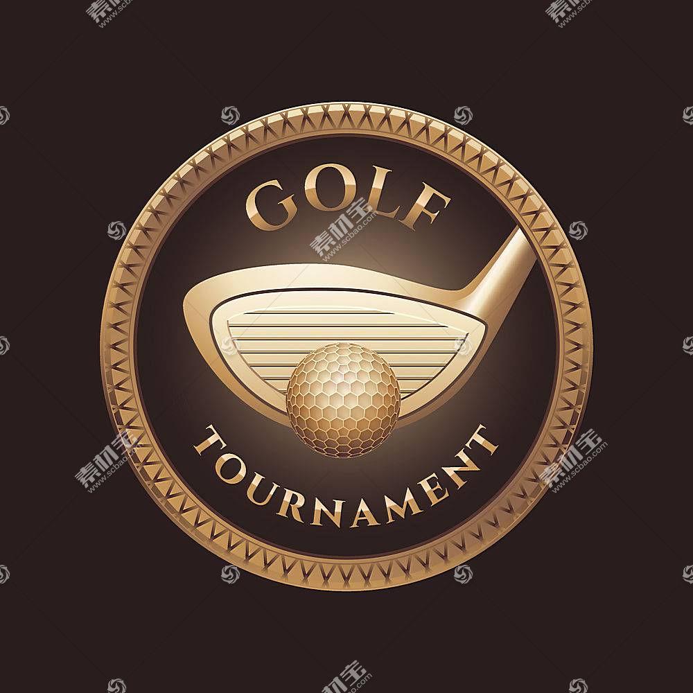 复古高尔夫主题LOGO徽章图标设计