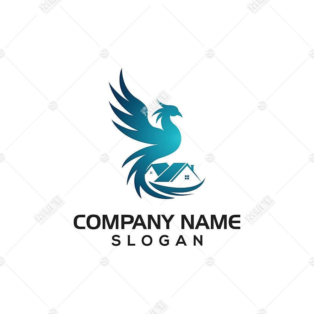 凤凰地产主题LOGO徽章图标设计