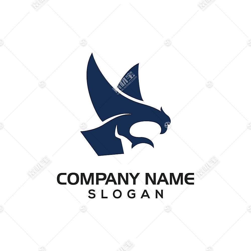 老鹰主题LOGO徽章图标设计